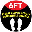 Personalized Social Distancing Slip Resistant Floor Stickers