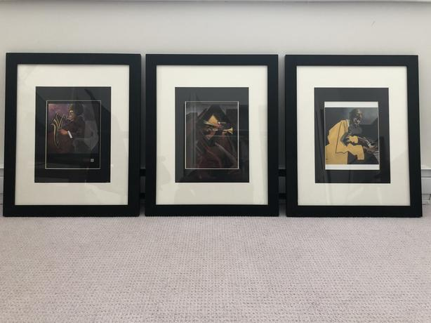 Set of Framed Bua Prints