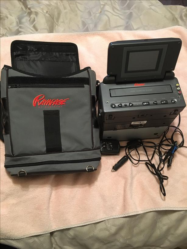 Rampage Portable VHS car monitor and VHS player