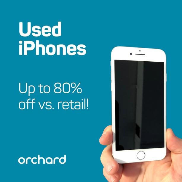 Buy Used iPhone from $99 at Orchard! (Toronto-based)