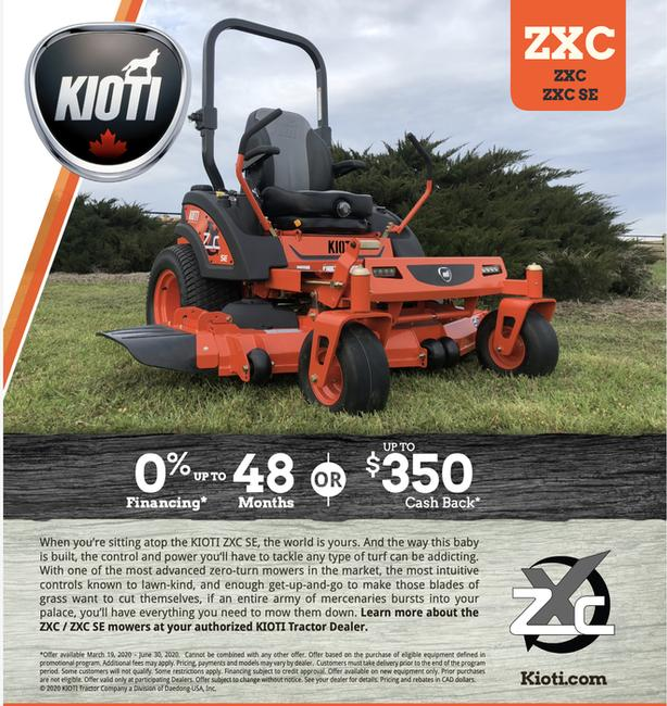 Kioti ZTC Commercial 0-turn Mowers