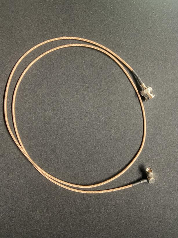 DIN 1.0/2.3 Right Angle to BNC Female cable