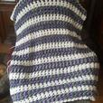 Beautiful Hand Crocheted Af-ghan