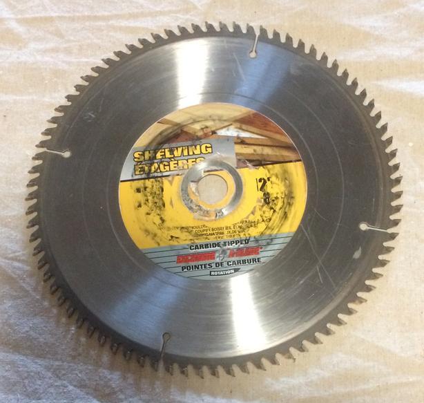 "12"" 80-Tooth Carbide Circular Saw Blade"