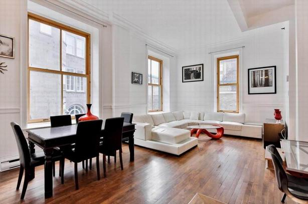Amazing 2 bedroom condo fully furnished for rent Old Montreal