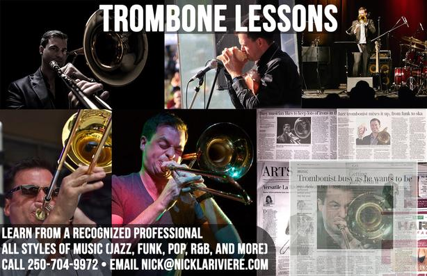 Online trombone lessons from one of Canada's top musicians