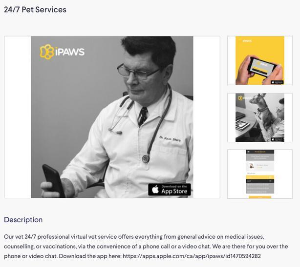 Social distancing- iPhone/ iPad app for pets