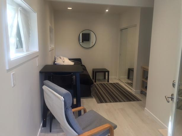Bright, new furnished studio suite with private entrance