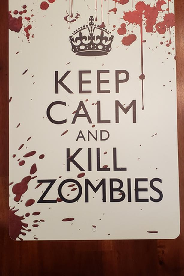 SIGN: Keep calm and kill zombies sign