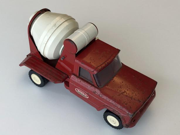 Vintage Tonka Cement Mixer Truck - Red