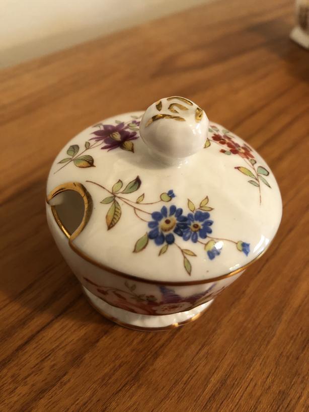 Small vintage bone china mustard pot