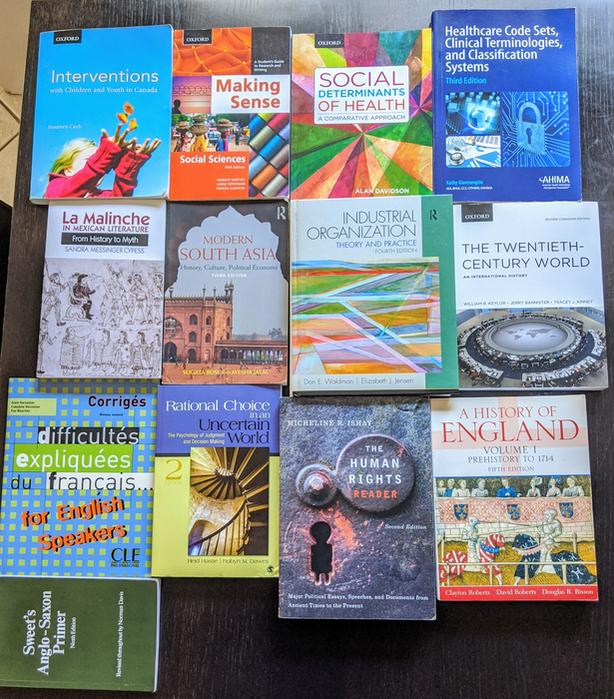 Engineering, French, History, Business, Econ,  Uvic/Camosun Textbook Lot