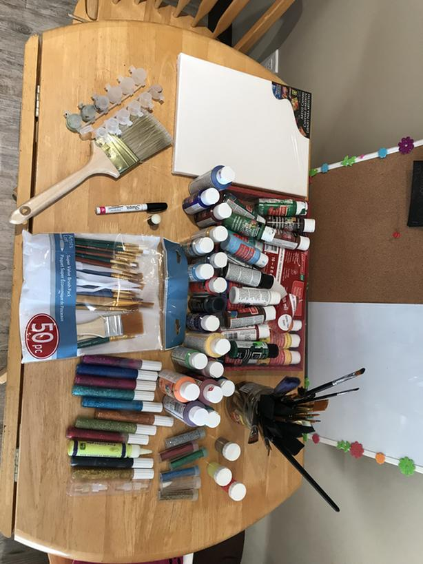 Craft and paint supplies