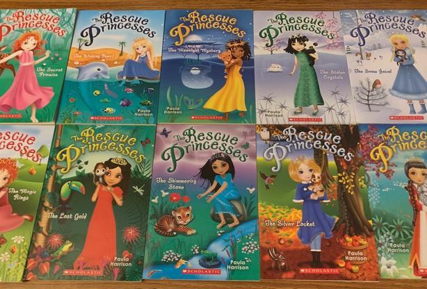 Complete set 1-10 The Rescue Princesses Books