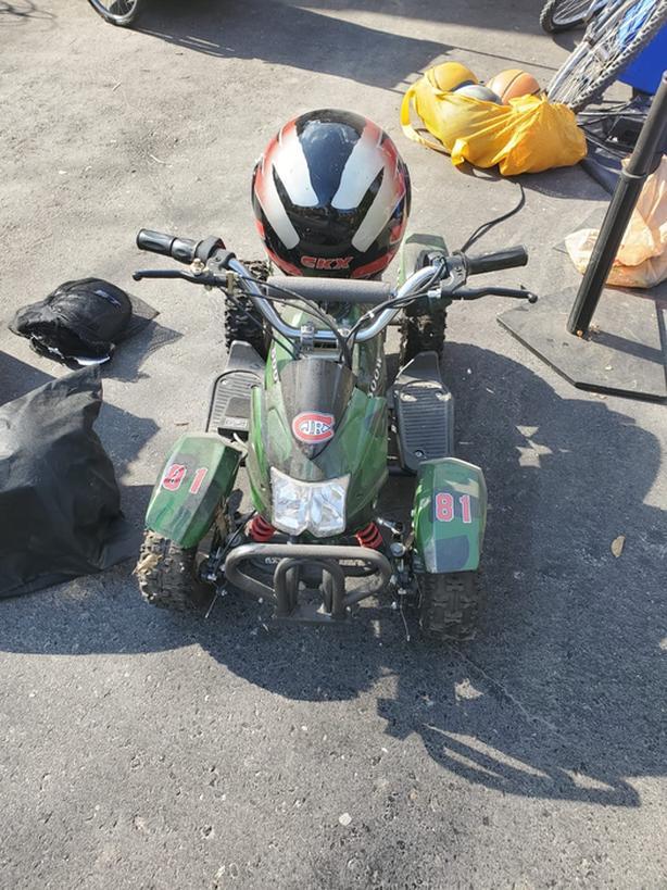 MINI ATV WITH HELMET