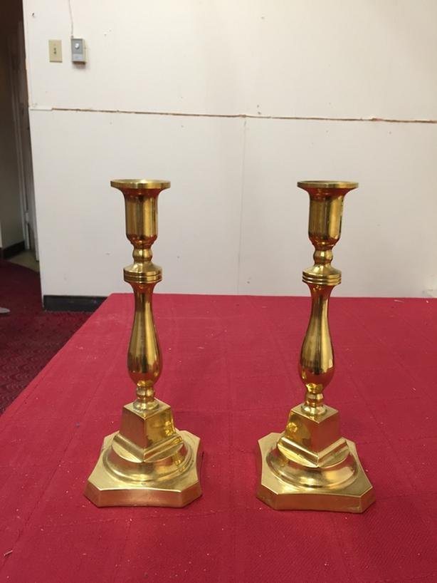 Pair of the Brass Candle Holders