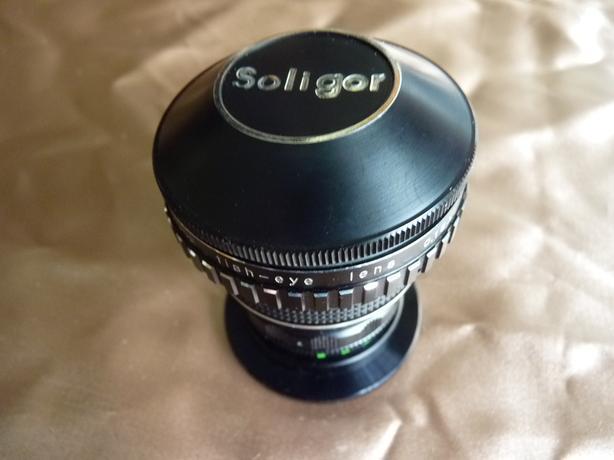 Soligor fish eye 0.15x film camera lens, mint