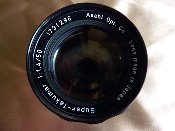 Pentax Super-Takumar 50mm 1.4 for 35mm film camera lens, mint