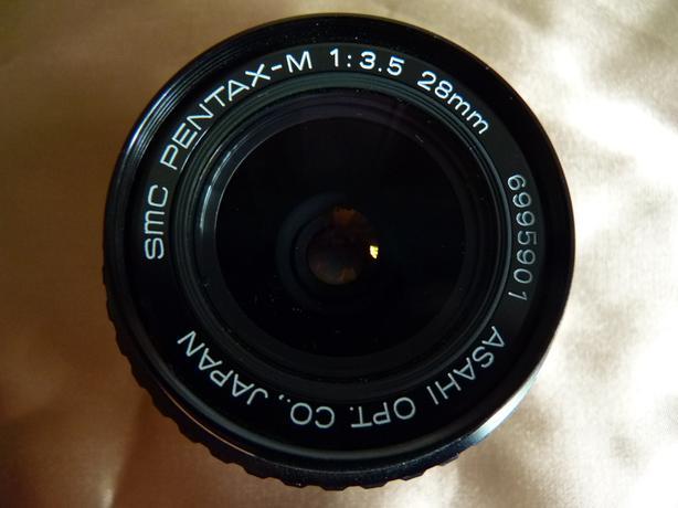 SMC Pentax-M 28mm 3.5 SLR film camera lens, mint