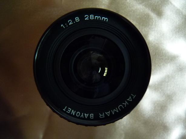 Pentax Takumar Bayonet 28mm 2.8 SLR film camera lens, mint