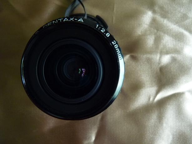 SMC Pentax-A 28mm 2.8 35mm SLR film camera lens, great cond.