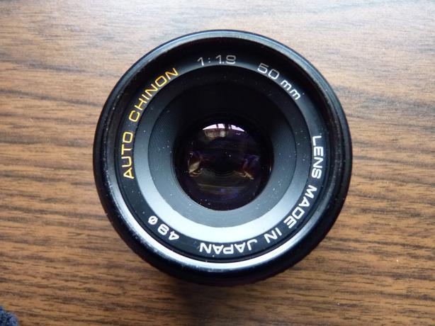Auto Chinon 50mm 1.9 35mm SLR film camera lens, great cond. Pentax P/K mount.