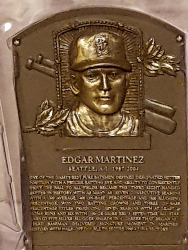 Edgar Martinez Hall of Fame Plaque