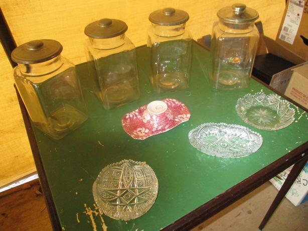 OLD ESTATE CANDY DISPLAY JARS