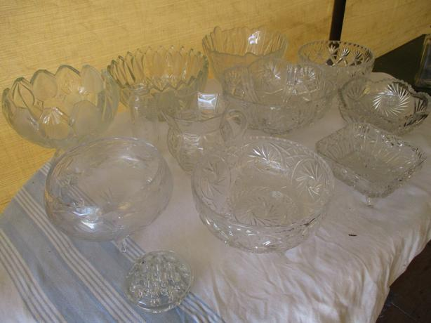 FROM ESTATE CRYSTAL/GLASSWARE