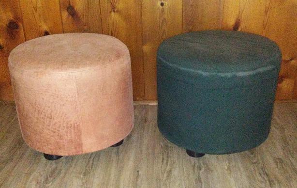 Two Ottomans 20 inch diameter