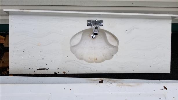 """""""FREE"""" Marble Bathroom Vanity Top & Tap."""