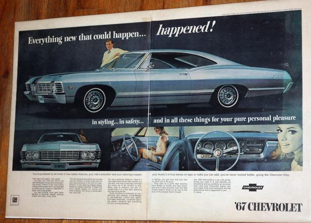 1967 Chevrolet Impala Advertisement