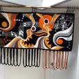 Vintage 'Musical Motif' Fibre Art Wall Hanging
