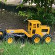 **** Tonka Pressed Steel Road Grader Toy Yellow ****