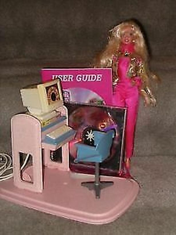 talking with barbie with the box