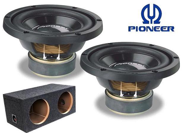 "Pioneer 10"" Subwoofers c/w Box"