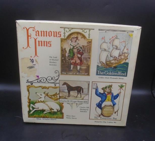 """VINTAGE 1960's ELKES BISCUITS (4 1/2 LB.) TIN """"FAMOUS INNS"""""""