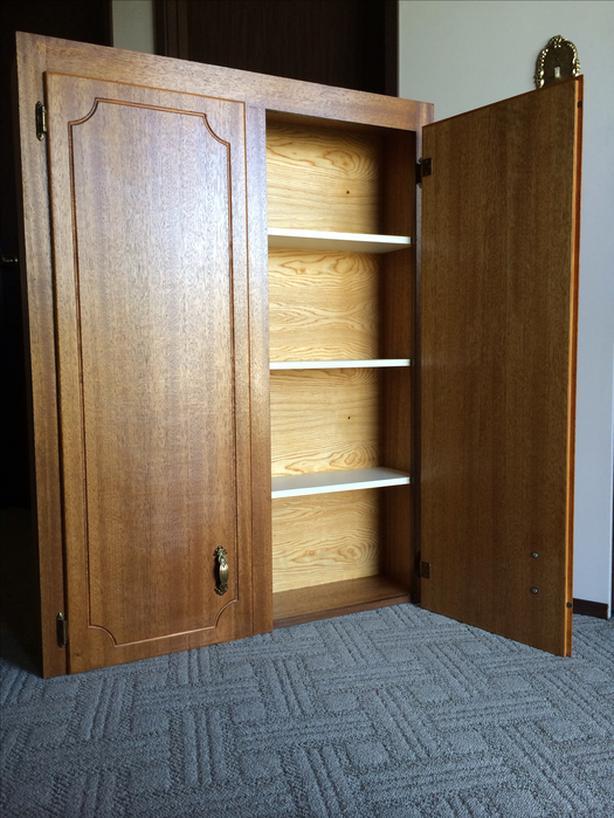 Mahogany wall cabinet