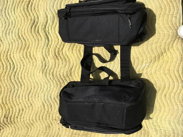Black Gears motorcycle panniers, lightly used