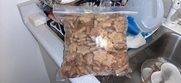 Fresh baked dog cookies