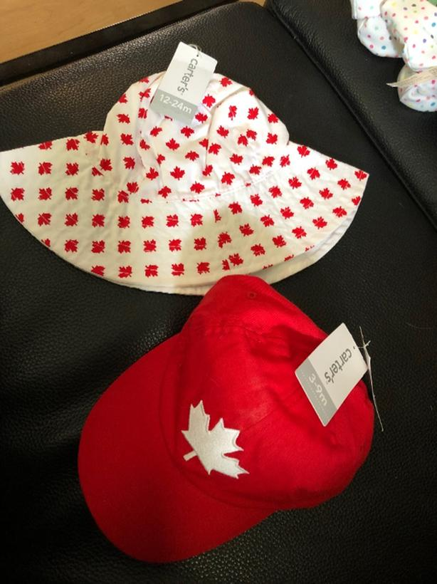 New baby canada day/summer hats