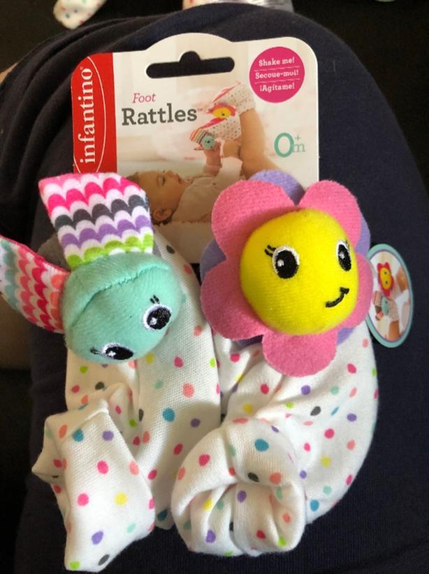 New baby rattle socks