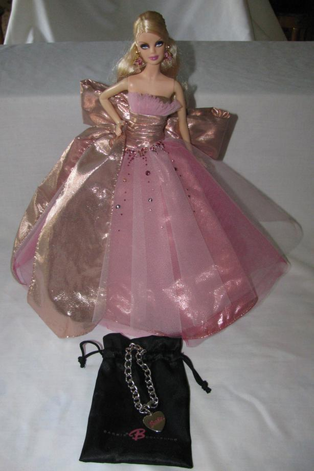 2009 Collectible Holiday Barbie Doll with Box & Keepsake Bracelet
