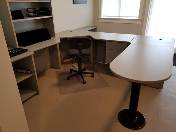 Modular Office Furniture Desk Assembly, Filing Cabinet Office Chair, etc.
