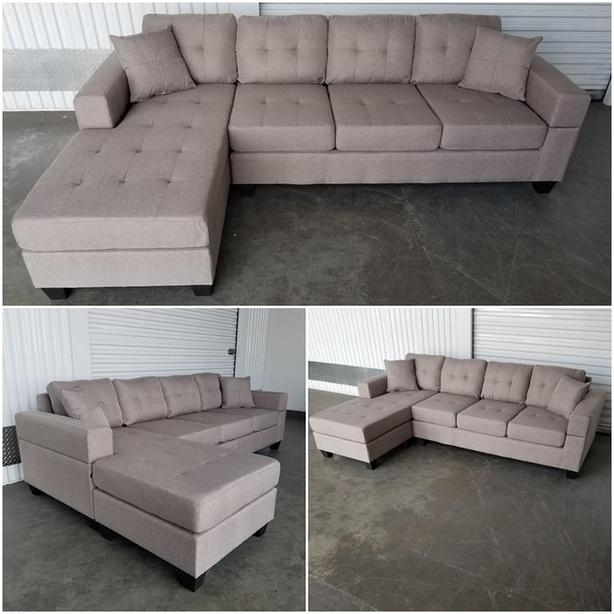 Brand new European style 4 seater lounge sofa w/reversible chaise
