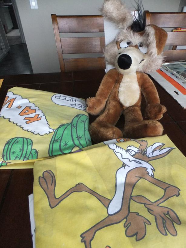 Road Runner /Willie Coyote Toy and sheets