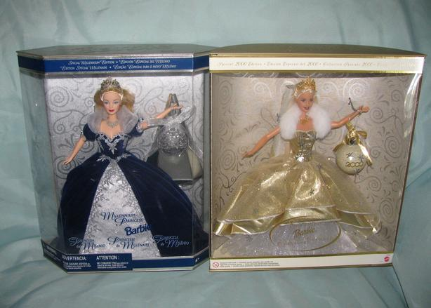Millennium 2000 Collectible Barbie Doll 2 Versions Mixed