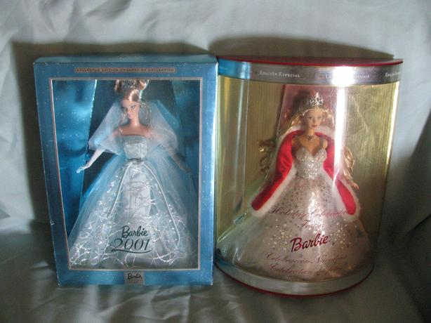 2001 Collectible Holiday Barbie Doll 2 Versions Mixed