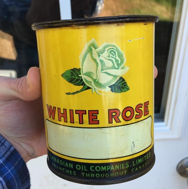 ****SPP****VINTAGE 1930's WHITE ROSE GREASE (1 LB.) CAN