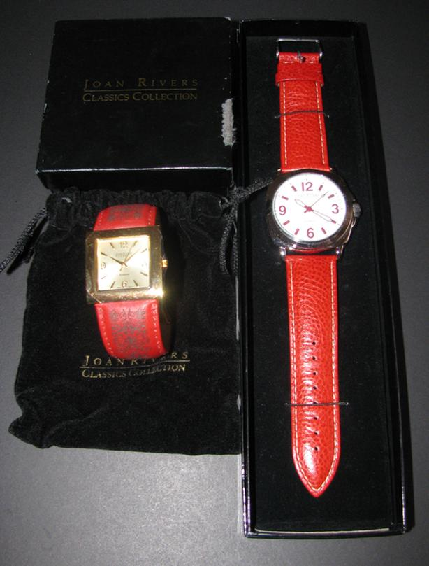 Joan Rivers Watch 2 Styles Mixed Look Unworn Need Batteries Red